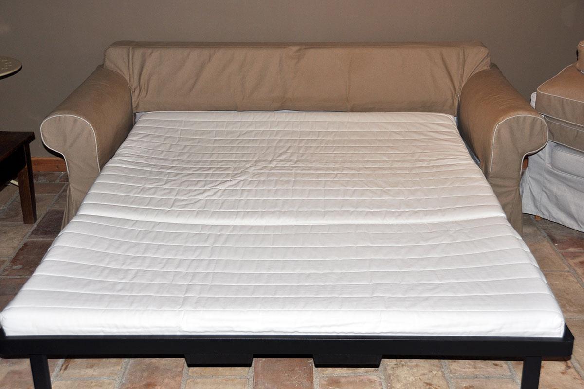 Maison Christol - slaapsofa living gebruikt als dubbel bed